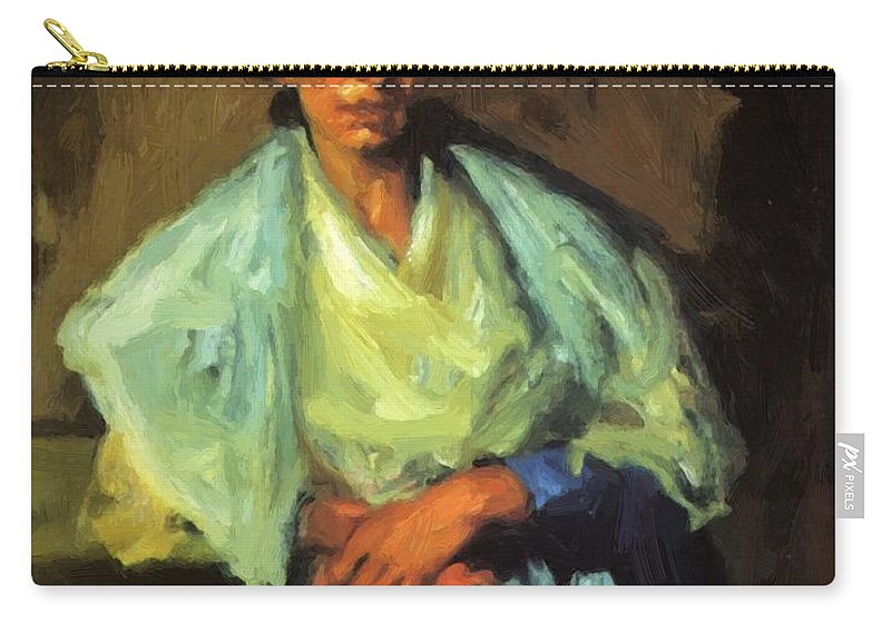 Gypsy Carry-all Pouch featuring the painting Gypsy by Henri Robert