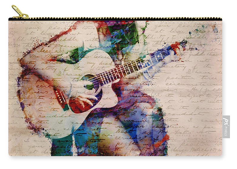 Gypsy Carry-all Pouch featuring the digital art Gypsy Serenade by Nikki Smith