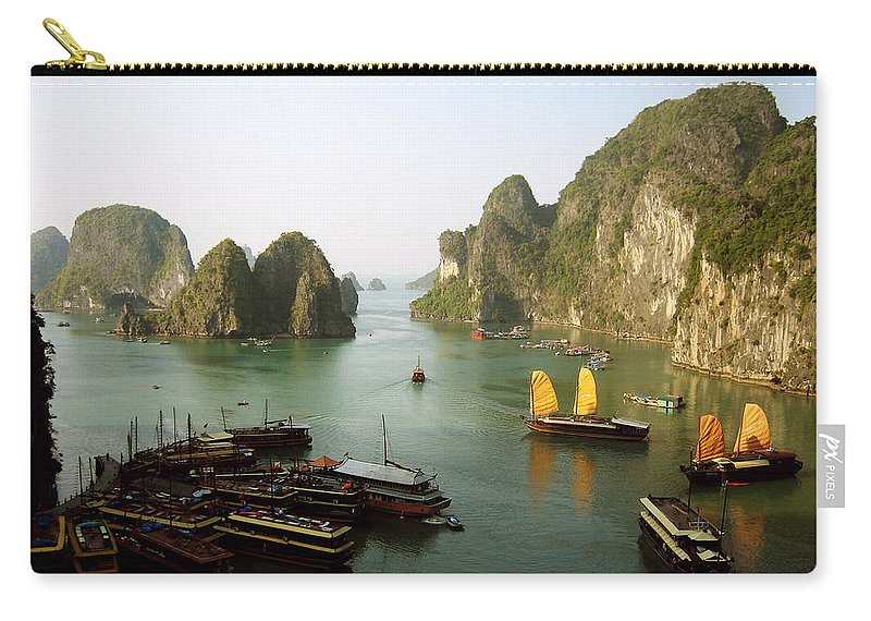 Ha Long Bay Carry-all Pouch featuring the photograph Ha Long Bay by Oliver Johnston
