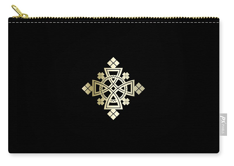 Habesha Carry-all Pouch featuring the digital art Habesha Holy Cross by Filmon Tesfatsion