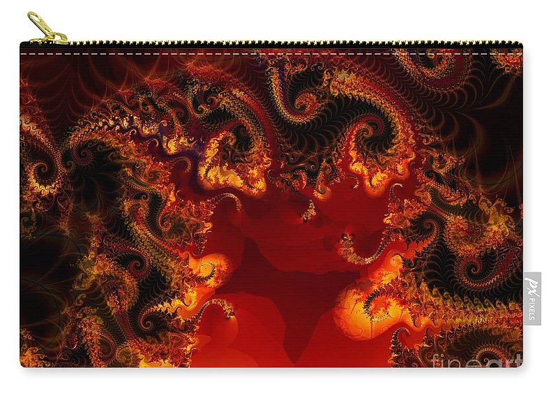 Fractal Carry-all Pouch featuring the digital art Hades by Ron Bissett