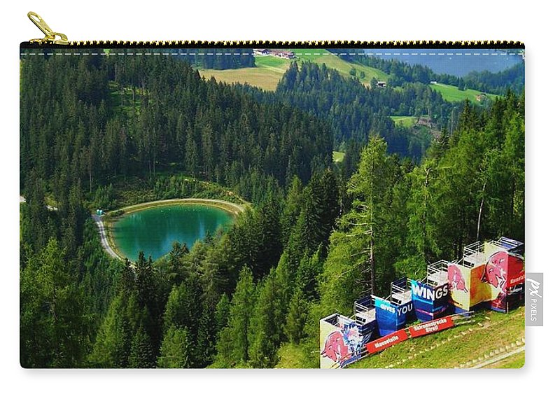 Europe Carry-all Pouch featuring the photograph Hahnenkamm - Kitzbuehel by Juergen Weiss