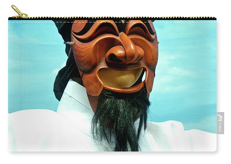 Asia Carry-all Pouch featuring the photograph Hahoe Mask by Michele Burgess