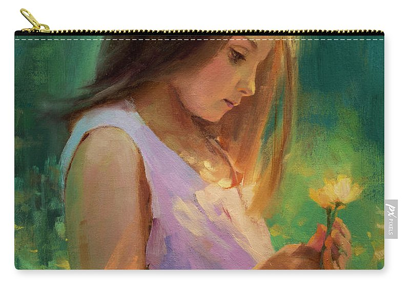 Girl Carry-all Pouch featuring the painting Hailey by Steve Henderson