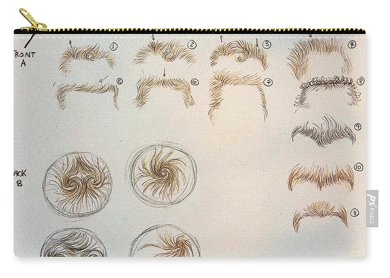 Hair Growth Patterns For Rooting Carryall Pouch For Sale By Doris Fascinating Hair Growth Patterns