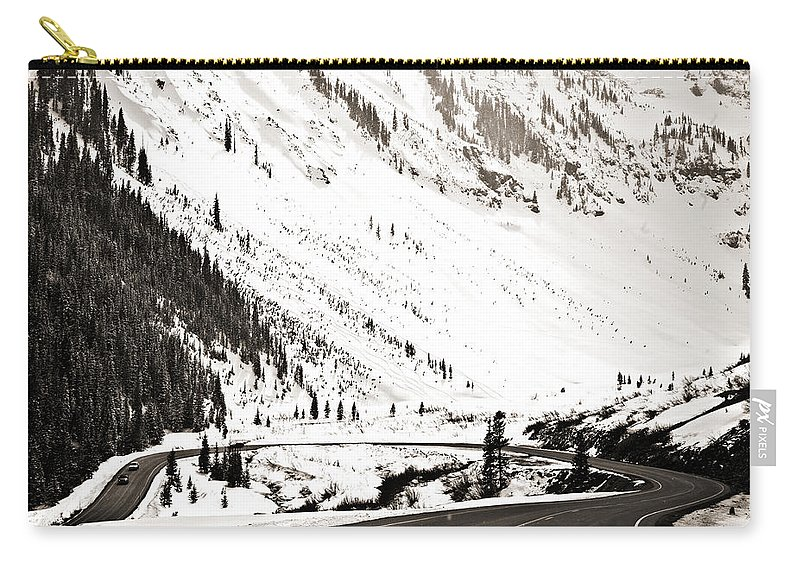 Curve Carry-all Pouch featuring the photograph Hairpin Turn by Marilyn Hunt