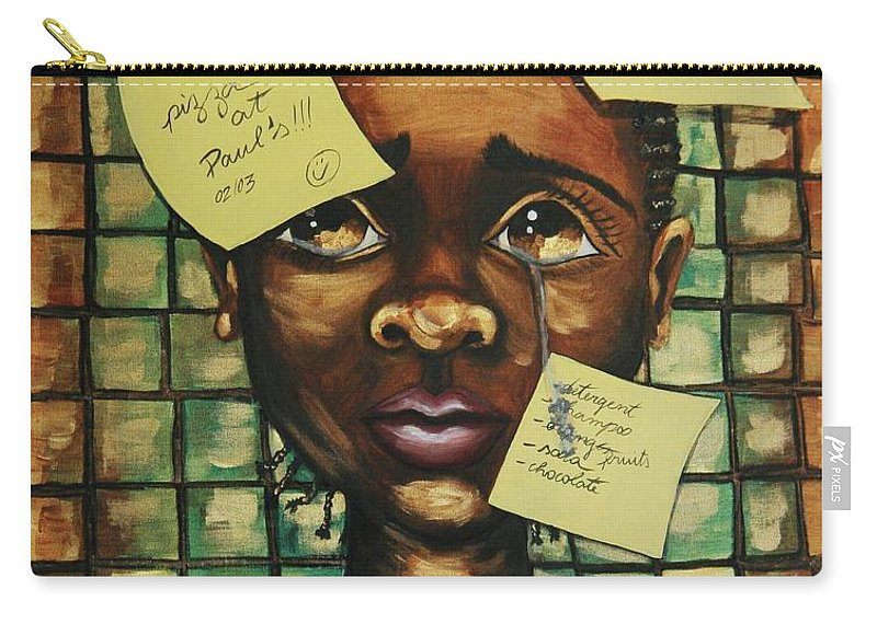 Child Carry-all Pouch featuring the painting Haiti 2010 by Cris Motta