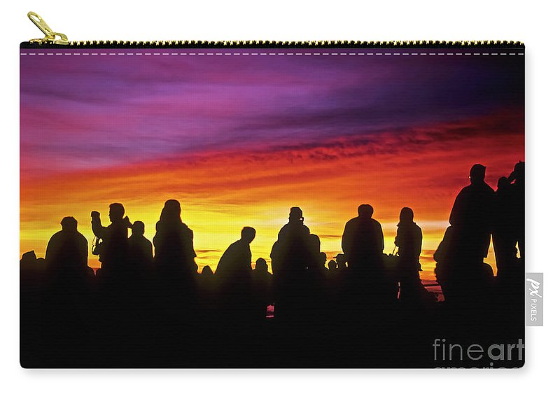 Haleakala Sunrise Carry-all Pouch featuring the photograph Haleakala Color Show by Jim Cazel