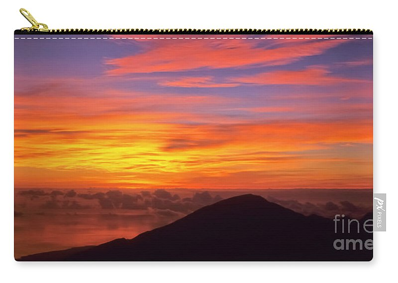 Nature Carry-all Pouch featuring the photograph Haleakala Sunrise Colors IIi by Jim Cazel