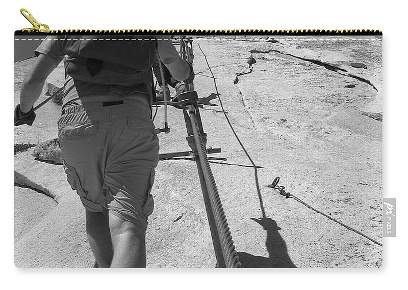 Half Dome Carry-all Pouch featuring the photograph Half Dome Cables by Travis Day