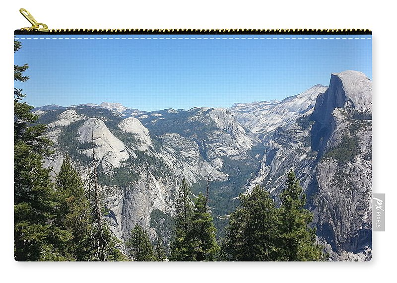 Half Dome Carry-all Pouch featuring the photograph Half Dome by Derek Ryan Jensen