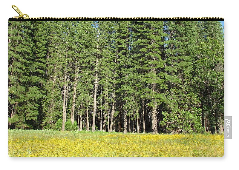 Half Dome Carry-all Pouch featuring the photograph Half Dome Meadow by Derek Ryan Jensen
