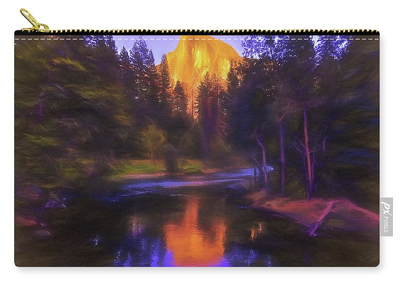 Half Dome Carry-all Pouch featuring the photograph Half Dome Sunset by Daniel Penn