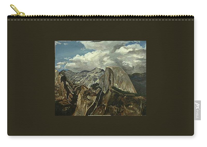Carry-all Pouch featuring the painting Half Dome by Travis Day