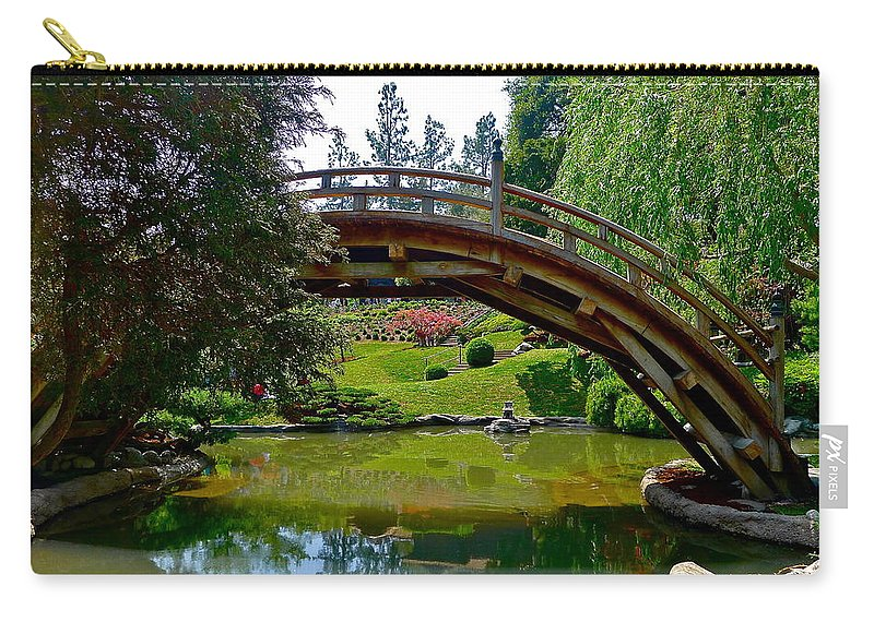 Garden Carry-all Pouch featuring the photograph Half Moon Bridge by Denise Mazzocco
