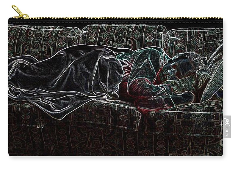 Sleeping Woman Carry-all Pouch featuring the photograph Halfabaskan Sleeping by Ron Bissett