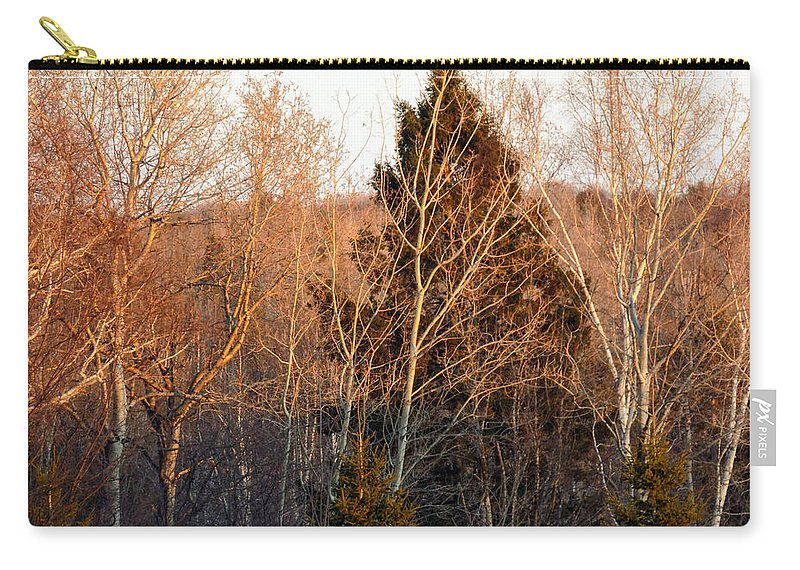 Sunset Carry-all Pouch featuring the photograph Halfway Up Sunset Rays by William Tasker