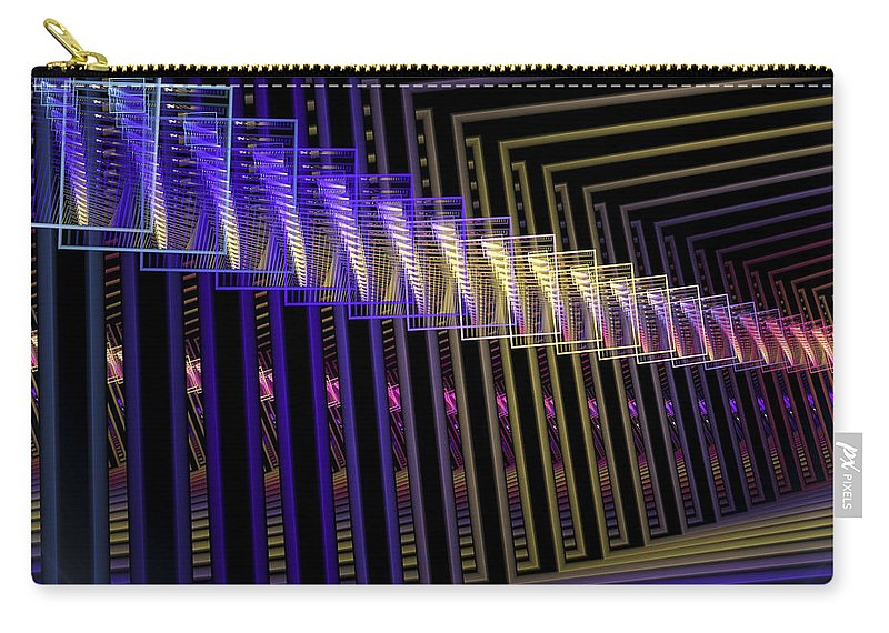 Fractal Carry-all Pouch featuring the digital art Hall Of Lights by Amorina Ashton