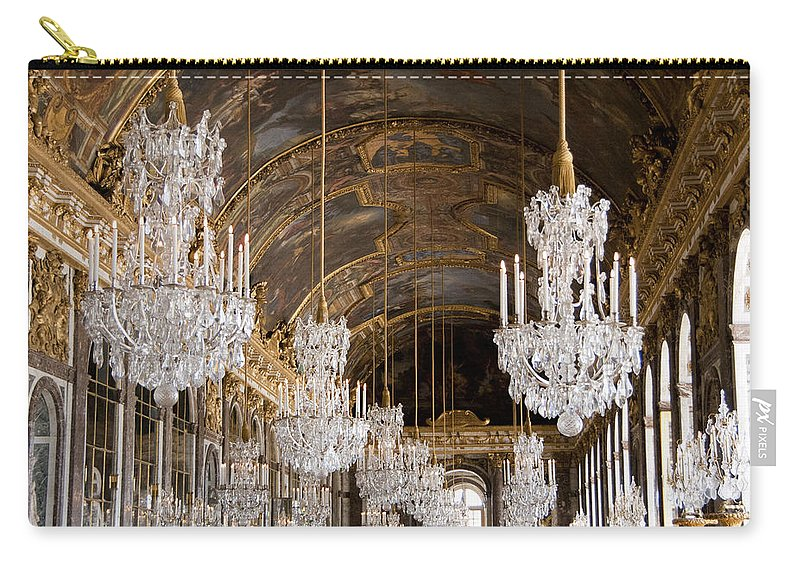 Versailles Carry-all Pouch featuring the photograph Hall Of Mirrors Palace Of Versailles France by Jon Berghoff