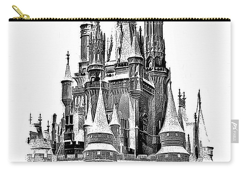 Castle Carry-all Pouch featuring the photograph Hall Of The Snow King Monochrome by Steve Harrington