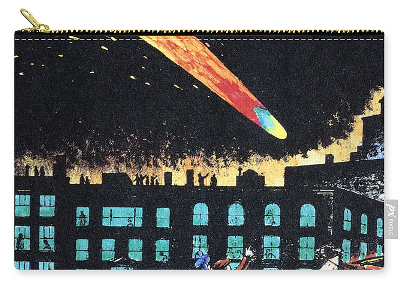 1910 Carry-all Pouch featuring the photograph Halleys Comet, 1910 by Granger