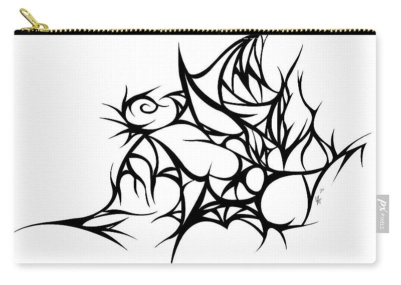 Carry-all Pouch featuring the digital art Hallow Web by Jamie Lynn