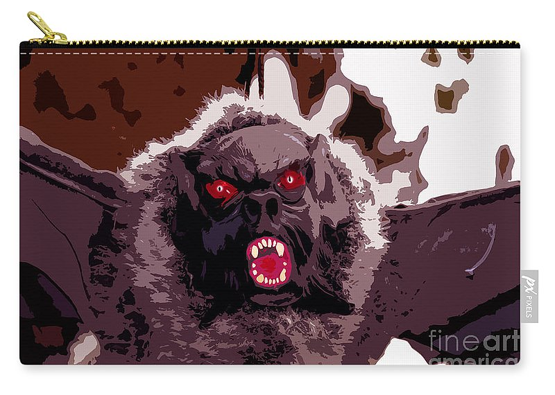 Halloween Carry-all Pouch featuring the digital art Halloween Bat by David Lee Thompson