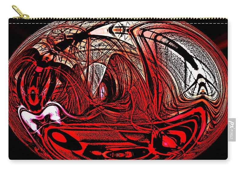 Abstract Digital Painting Carry-all Pouch featuring the digital art Halloween Fun by David Lane