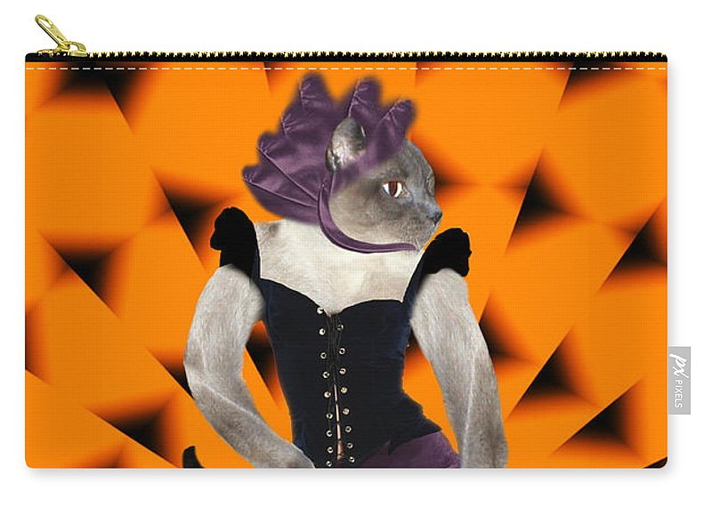 Halloween Carry-all Pouch featuring the mixed media Halloween Hussy by Gravityx9 Designs