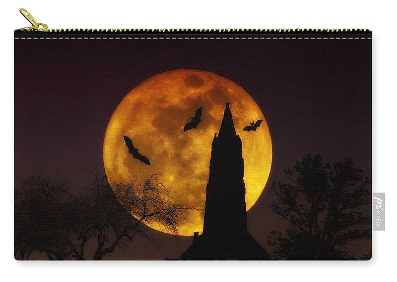 Halloween Carry-all Pouch featuring the photograph Halloween Moon by Bill Cannon