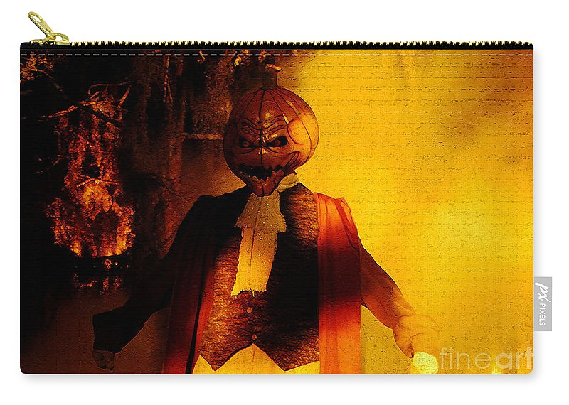 Halloween Carry-all Pouch featuring the digital art Halloween Nightmare by David Lee Thompson