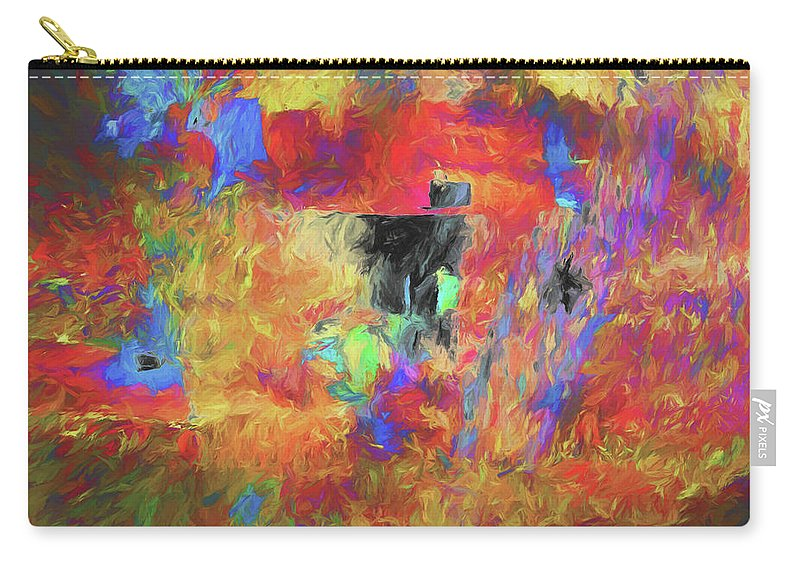 Abstract Carry-all Pouch featuring the digital art Hallucination 7976 by Matt Cegelis