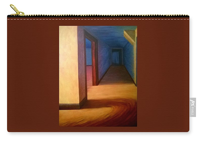 Hallway Carry-all Pouch featuring the painting Hallway by Joann Renner