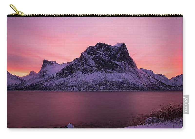 Norway Carry-all Pouch featuring the photograph Halo In Pink by Alex Lapidus