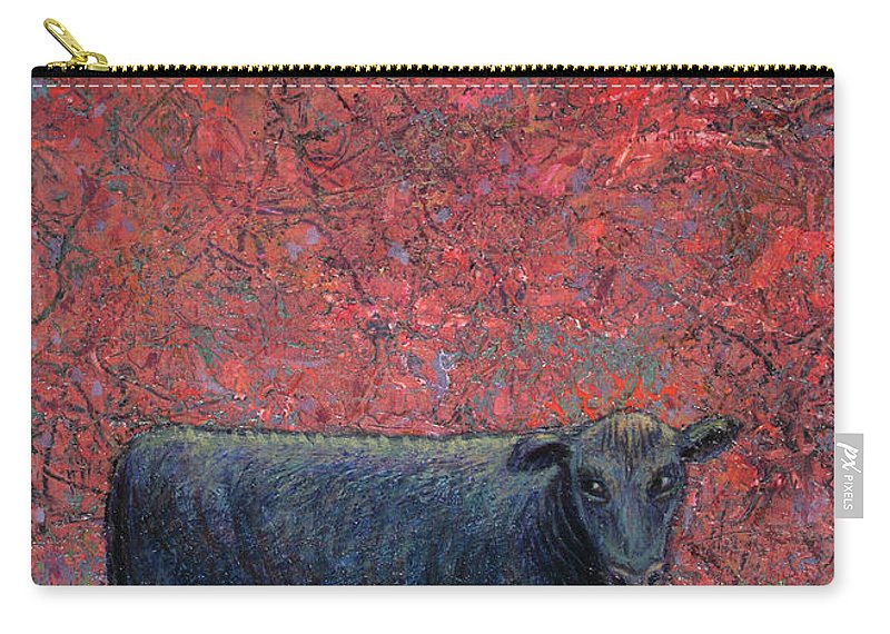 Cow Carry-all Pouch featuring the painting Hamburger Sky by James W Johnson