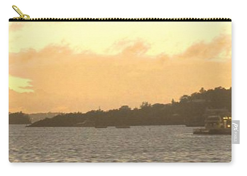 Hamiltion Carry-all Pouch featuring the photograph Hamilton Harbour Sunset by Ian MacDonald
