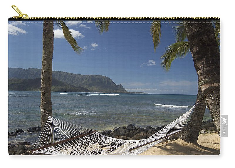 Vacation Carry-all Pouch featuring the photograph hammock in Paradise by Robert Ponzoni