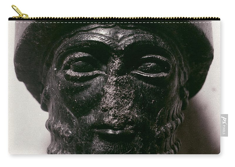 1750 B.c. Carry-all Pouch featuring the photograph Hammurabi (d. 1750 B.c.) by Granger