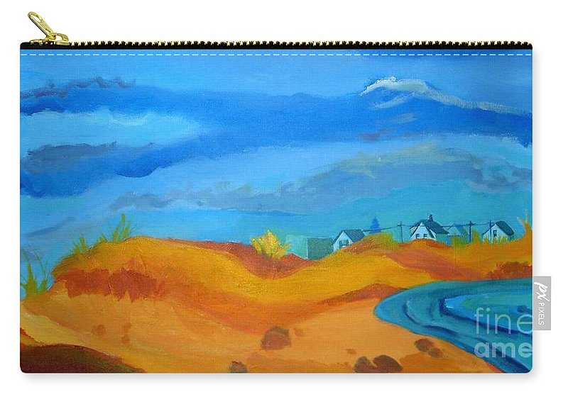 Ocean Carry-all Pouch featuring the painting Hampton Dunes by Debra Bretton Robinson