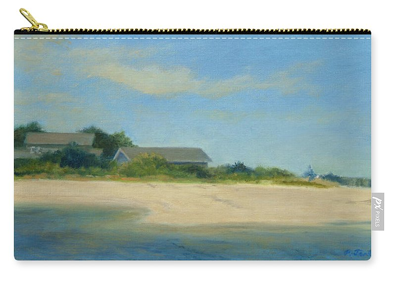 Landscape Carry-all Pouch featuring the painting Hamptons Beach House by Phyllis Tarlow