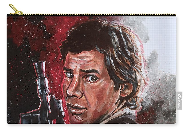 Han Solo Carry-all Pouch featuring the painting Han Solo by Joel Tesch