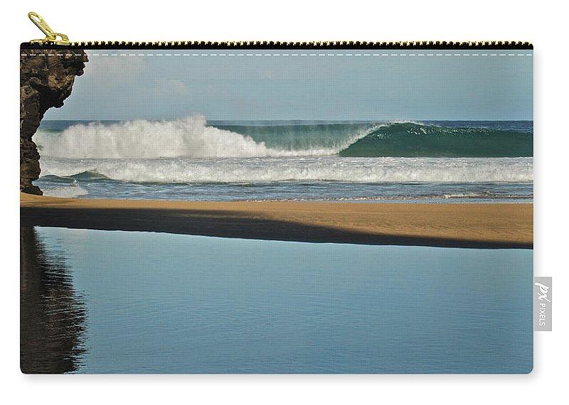 Hanakapiai Beach Carry-all Pouch featuring the photograph Hanakapiai Beach 1287b by Michael Peychich