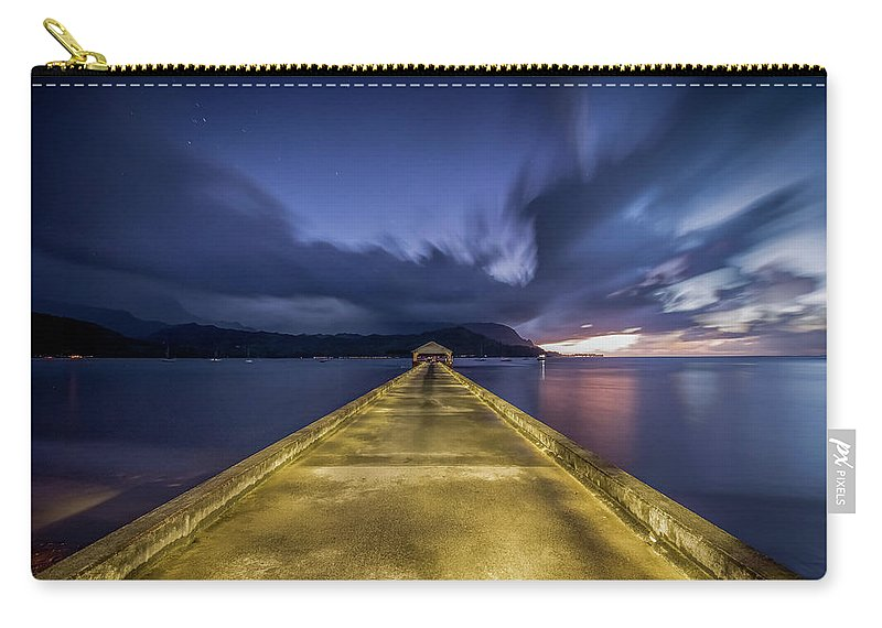 Yellow Carry-all Pouch featuring the photograph Hanalei Blue by Creigh Photography