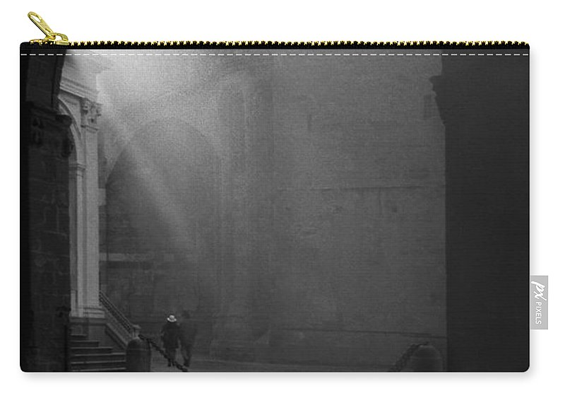 Monochrome Carry-all Pouch featuring the photograph Hand In Hand by Sergio Bondioni