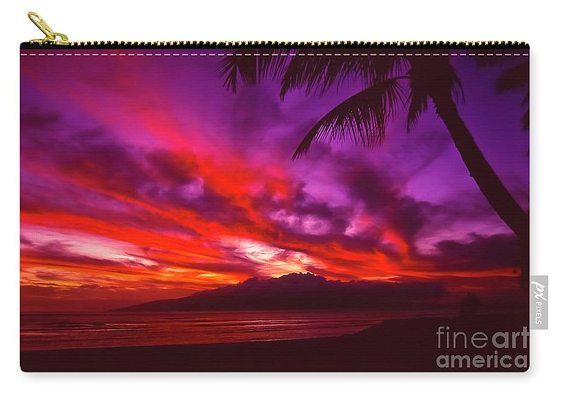 Landscapes Carry-all Pouch featuring the photograph Hand of Fire by Jim Cazel