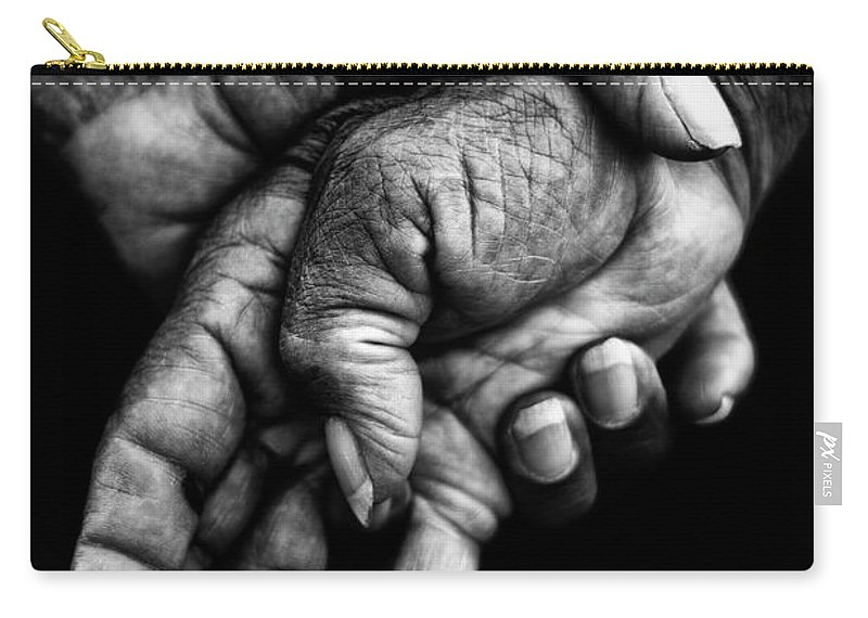 Hands Carry-all Pouch featuring the photograph Hands by Gustavo Rossi