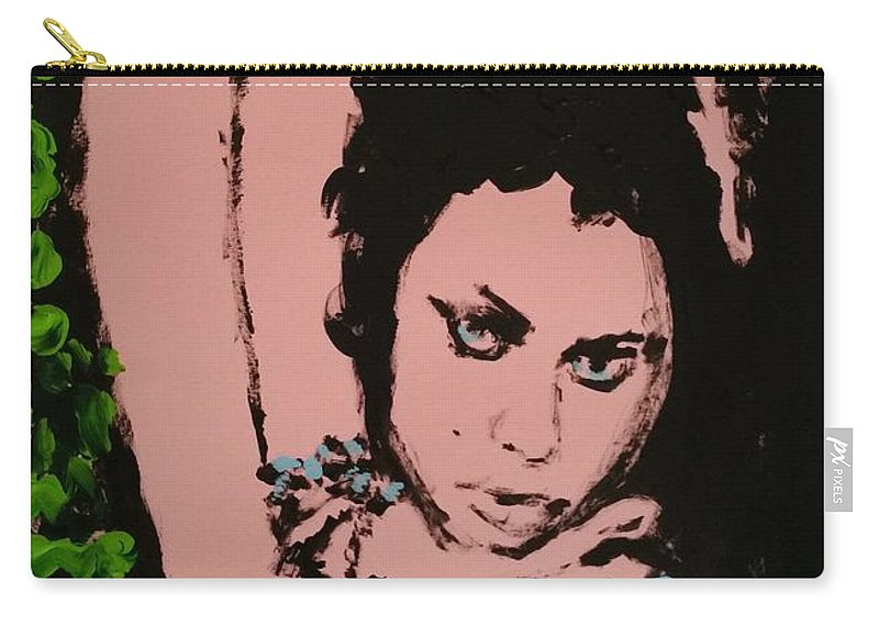 Pose Carry-all Pouch featuring the painting Hands Up Sketch II by Bachmors Artist