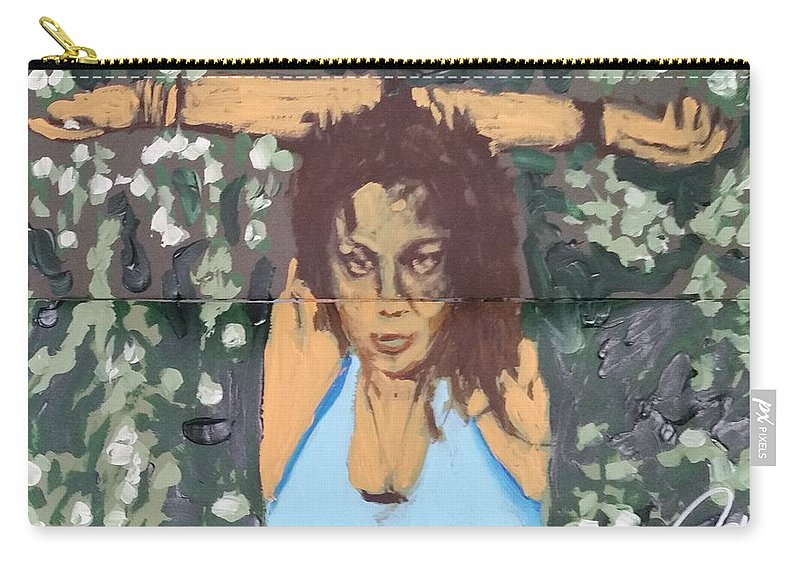 Pose Carry-all Pouch featuring the painting Hands Up Sketch V by Bachmors Artist
