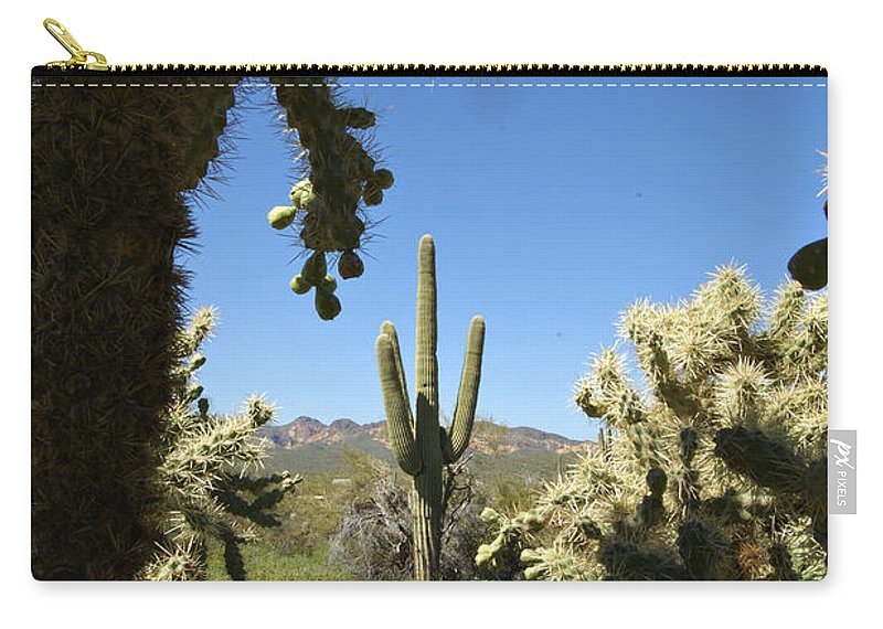 Saguaro Carry-all Pouch featuring the photograph Hands Up You're Surrounded by Jill Reger