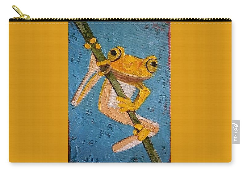 Frogs Carry-all Pouch featuring the painting Hang In There by Scott Velez